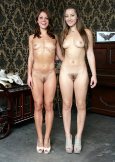 Totally naked leggy teen girls are introduced to..