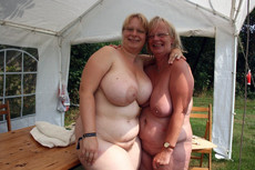 Lovely Big Tits women totally naked outdoor