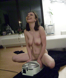 Nude young girlfriends and vacuum cleaners