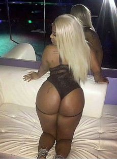 Amateur black woman with a big ass