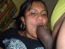 Black wife sucking fat cock in this amateur porn..