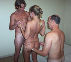 Swinger wife fucking with anothers' husbands at..