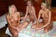 Nude girls threesome.