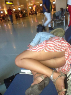 Voyeurism is alive in well at an airport near..