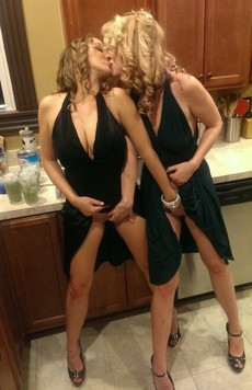 Two milfs starting the night right!The post Two..